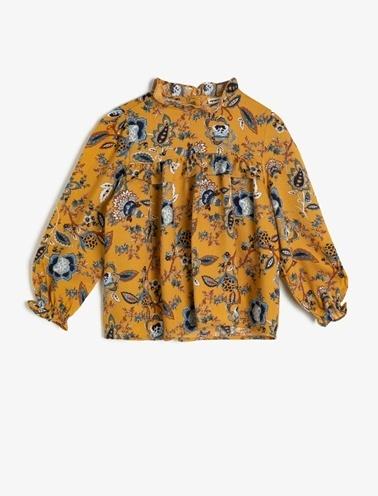 Koton Kids Desenli Bluz Sarı